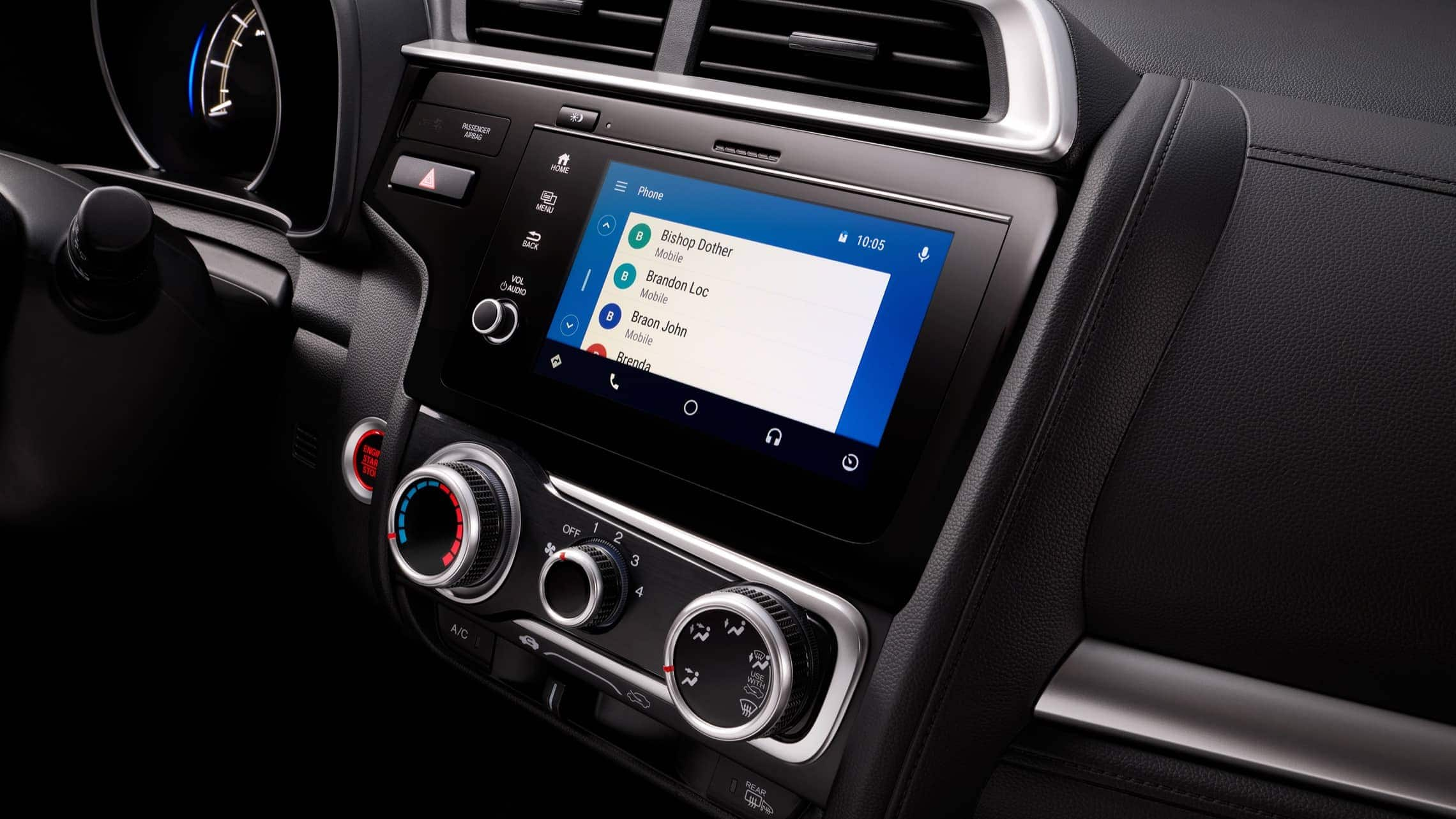 Display Audio touch-screen with Android Auto™ detail on 2019 Honda Fit.