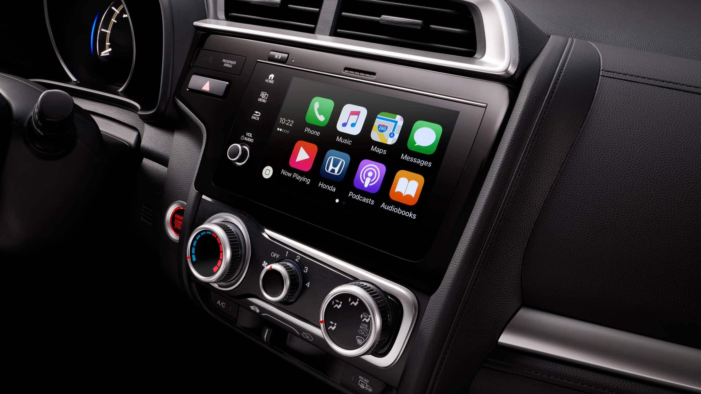 Display Audio touch-screen with Apple CarPlay™ detail on 2019 Honda Fit.