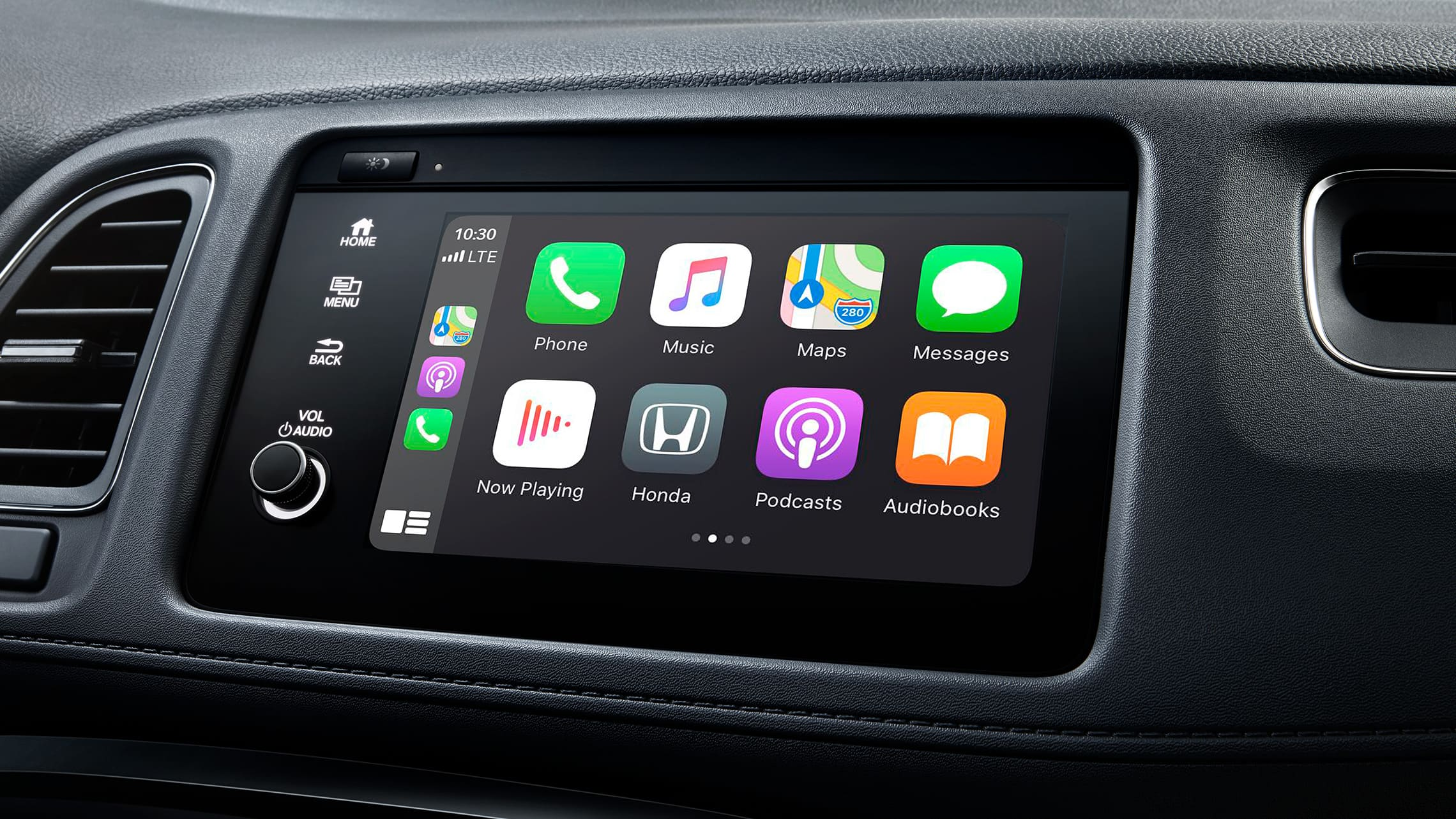 Apple CarPlay® detail on Display Audio touch-screen in the 2020 Honda HR-V Touring.